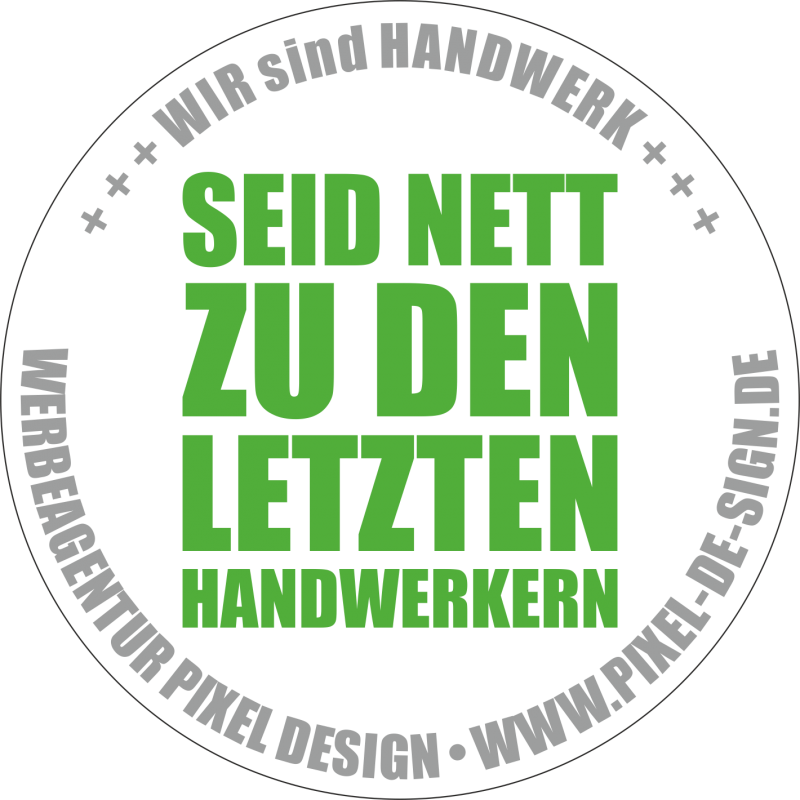Aufkleber Handwerk / grün / 120 x 120 mm