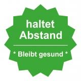 Fussboden Aufkleber / haltet Abstand / grün-weiß