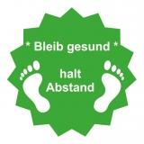 Fussboden Aufkleber / bleibt gesund / grün-weiß