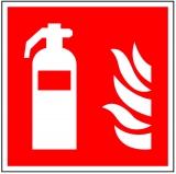Brandschutzzeichen / Feuerlöscher / 150 x 150 mm