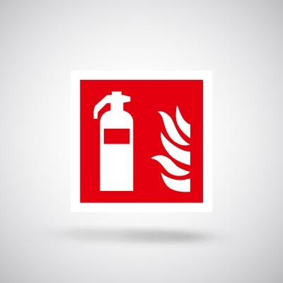 Aufkleber Feuerlöscher