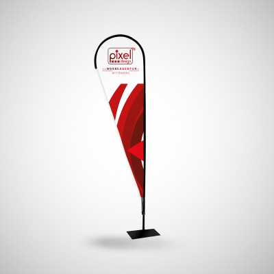 Beachflag-Werbefahne Drop  inkl. Druck