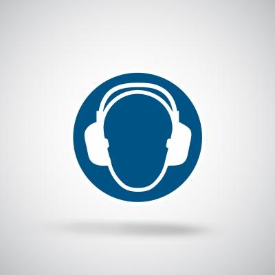Aufkleber Gehörschutz