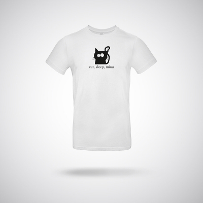 T-Shirt Katze eat,sleep, miau