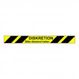 Fussboden Aufkleber / Abstand Banderole Fussboden / gelb-schwarz