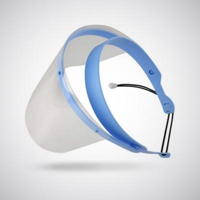 Schutzvisier aus PET blau