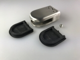 Edelstahl Glasklemme 304 Stainless Steel für 10-12 mm Glas